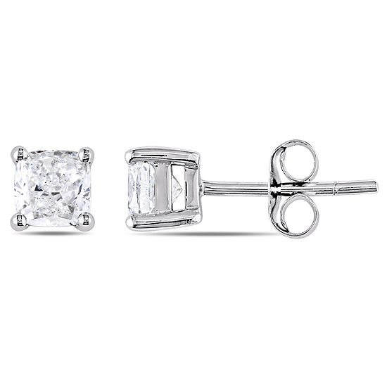 1 CT. T.W. Genuine White Diamond 14K Gold 1mm Stud Earrings