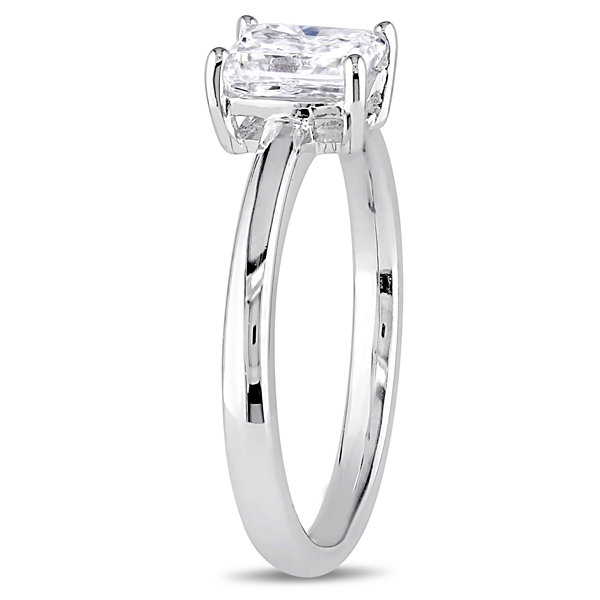 Womens 1 CT. T.W. Genuine Radiant White Diamond 14K Gold Solitaire Ring