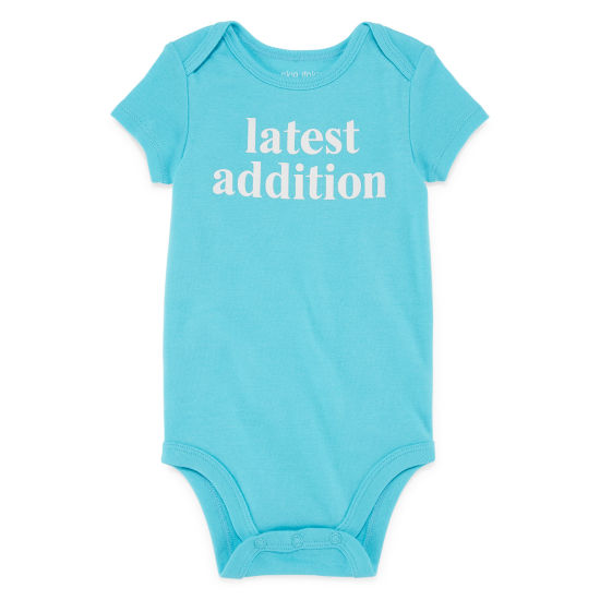 "Okie Dokie ""Latest Addition"" Short Sleeve Slogan Bodysuit - Baby NB-24M"