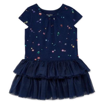 Okie Dokie Short Sleeve Tutu Dress - Toddler Girls