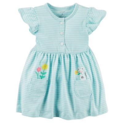 Carter's Short Sleeve A-Line Dress - Baby Girls