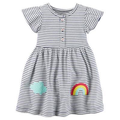 Carter's Flutter Sleeve A-Line Dress - Baby Girls