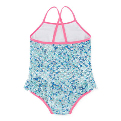 Pink Platinum One Piece Swimsuit Preschool Girls