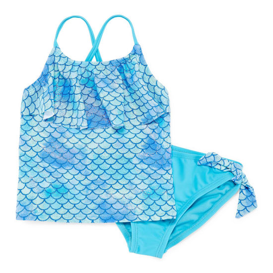 Okie Dokie Girls Tankini Set - Toddler