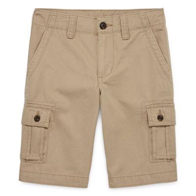 Arizona Solid Cargo Shorts - Boys 4-20