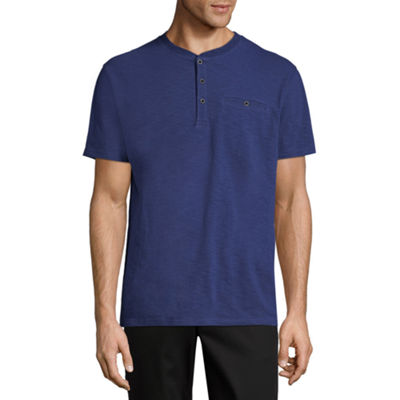 Claiborne Short Sleeve Henley Shirt