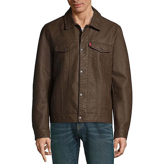 d53661c91a10d Levis Faux Leather Trucker Jacket JCPenney