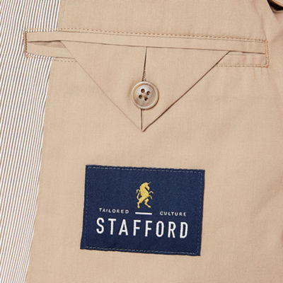 Stafford Brown Classic Fit Pincord Sport Coat