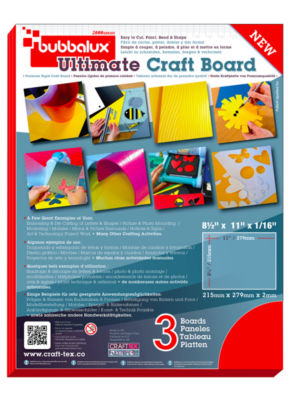 CraftTex Bubbalux Pack of 6 Ultimate Creative Letter Size Craft Board