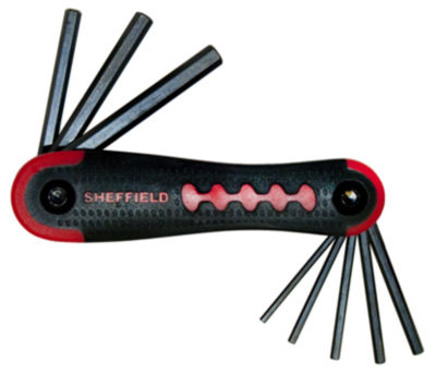 Sheffield 58782 9 Piece Folding Hex Key Set SAE