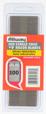 Allway Tools SEB100VP Single Edge Razor Blades 100 Count