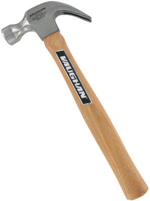 "Vaughan ADO16 16 Oz Smooth Face Claw Hammer With 13"" Wood Handle"