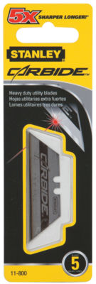 Stanley Hand Tools 11-800 Carbide Utility Blades 5 Count