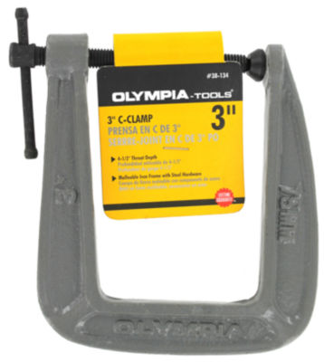 "Olympia Tools 38-134 3"" X 4-1/2"" C-Clamp"