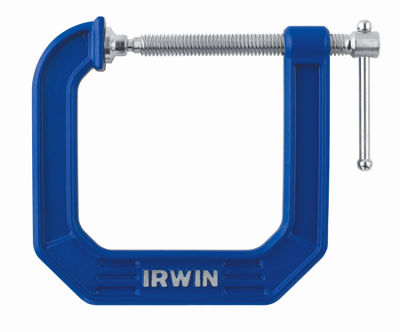 "Irwin 225134 3"" Blue Deep Throat 100 Series C-Clamp"