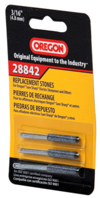 "Oregon 28842 3/16"" File Replacement Stones 3 Count"