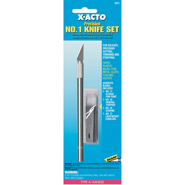 X Acto X5211 No. 1 Precision Knife & Blade Assortment