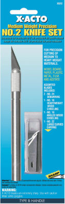 X Acto X5212 No. 2 Medium Weight Precision Knife & Blade Assortment