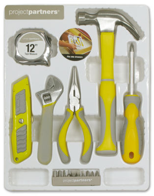 Project Partners 70803 Household Tool Kit 6 Piece Set