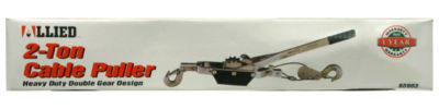 Allied International 65903CB 2 Ton Double Gear Cable Puller