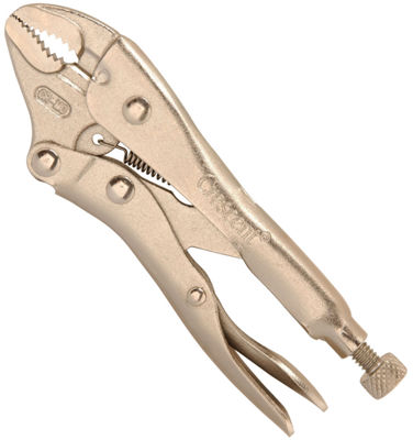 "Crescent C5CVN 5"" Curved Jaw Locking Pliers With Wire Cutter"