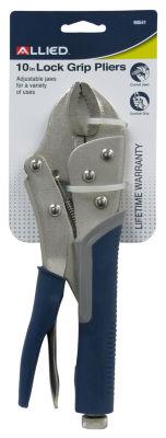 "Allied International 90541 10"" Lock Grip Pliers With Cutter"