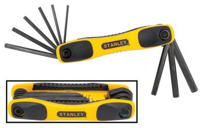 Stanley STHT71801 Folding Metric Hex Key 9 Piece Set