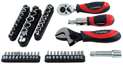 Great Neck 28045 50 Piece Ratchet Socket & Wrench Set