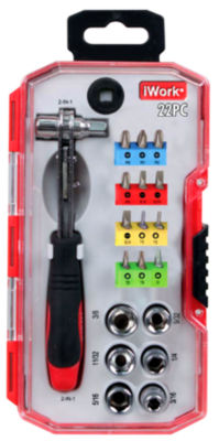 Olympia Tools 76-508-N12 22 Piece 2 In 1 Ratchet Driver Set