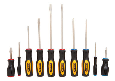 Stanley Hand Tools 60-100 10 Piece Slotted & Phillip Screwdriver Set