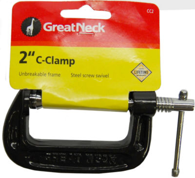 """Great Neck CC2 2"""" Adjustable C Clamps"""