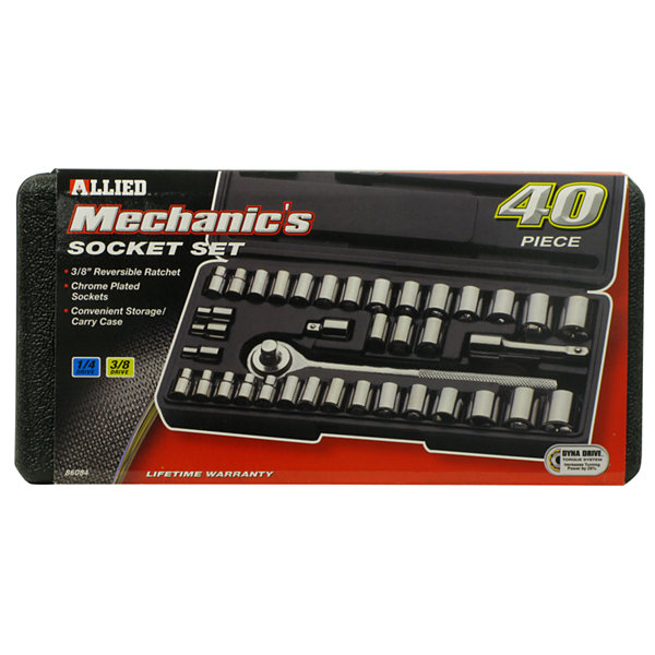 Allied International 86084 Mechanics Socket Set 40 Piece Set