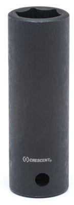 "Crescent CIMS28 1/2"" Drive 12mm 6 Pt Black MetricDeep Impact Socket"