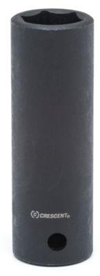 "Crescent CIMS34 1/2"" Drive 19mm 6 Pt Black Metric Deep Impact Socket"