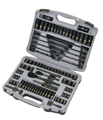 Stanley Hand Tools 92-839 99 Piece Black Chrome & Laser Etched Socket Set