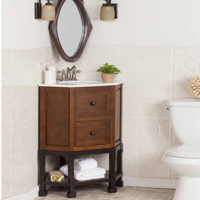 Boyce and Balch Barker Marble Top Vanity Sink