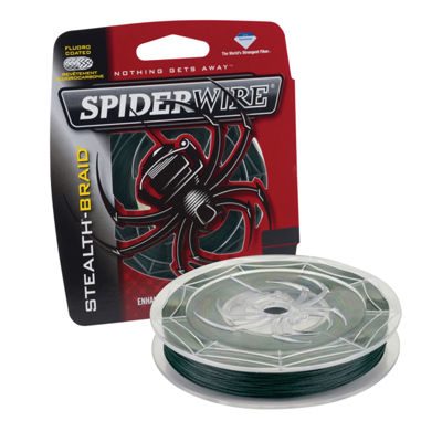 "Spiderwire Stealth Braid Superline Line Spool 500Yards, 0.007"" Diameter, 8 Lbs Breaking Strength"