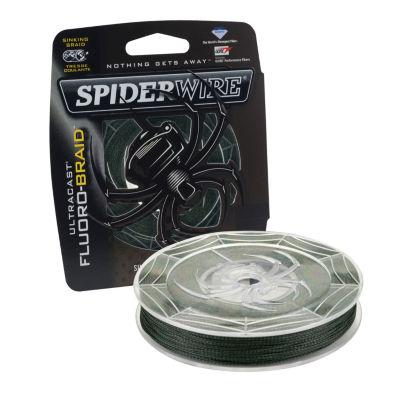 "Spiderwire Ultracast Fluoro-Braid Superline Line Spool 300 Yards- 0.008"" Diameter- 10 Lbs Breaking Strength"