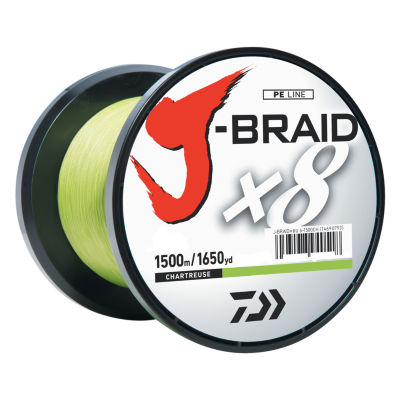 Daiwa J-Braid Braided Line - 8 Lbs Tested- 1650 Yards/1500M Filler Spool