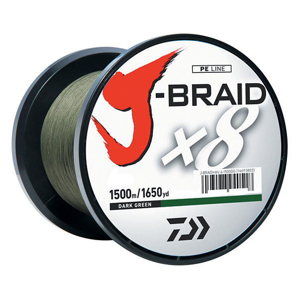 Daiwa J-Braid Braided Line - 10 Lbs Tested- 1650 Yards/1500M Filler Spool