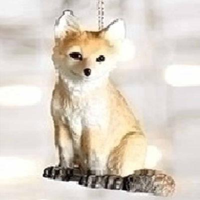 "3.25"" Wild Baby Orange and Brown Fox Decorative Christmas Ornament"""