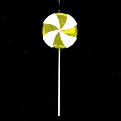 Huge Candy Fantasy Key Lime Swirl Lollipop Christmas Ornament Decoration 40""
