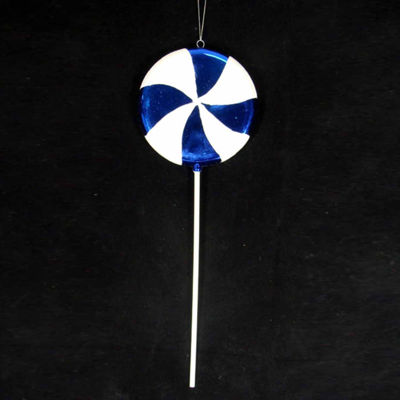 Large Candy Fantasy Blueberry Swirl Lollipop Christmas Ornament Decoration 22