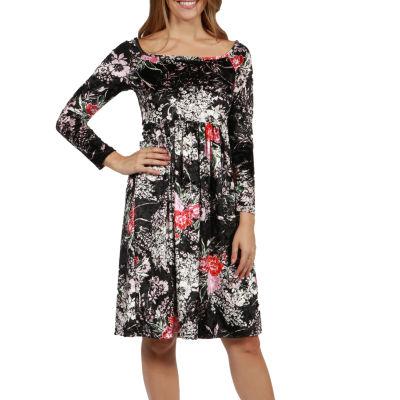 24/7 Comfort Apparel Veronica Velvet Dress