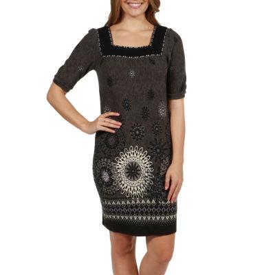24/7 Comfort Apparel Gracie Sweater Knit Dress