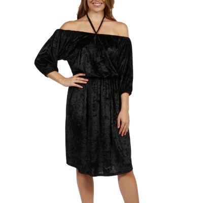 24/7 Comfort Apparel Halter Strap Via Veneto Dress