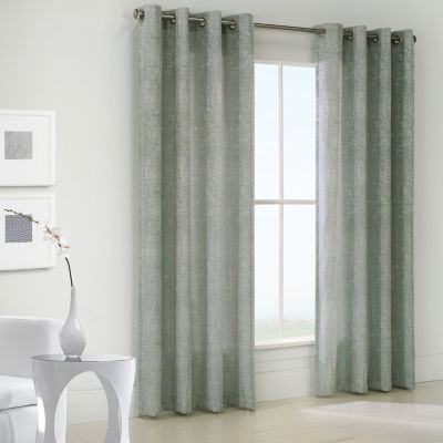 Concrete Grommet-Top Curtain Panel