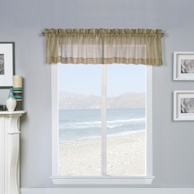 Mist Rod-Pocket Arch Valance