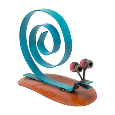 Rustic Arrow Snail Figurine