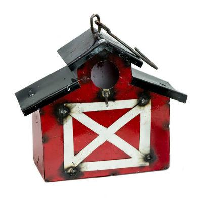 Rustic Arrow Barn With Peak Birdhouse Figurine